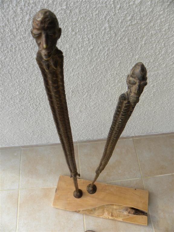 bronzefiliforme couple 2 - 80cm